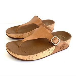 Fitflop Kinney Skinny Leather Tan Sandals